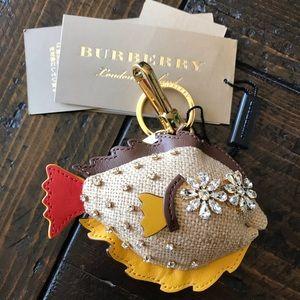 New Burberry Fish Bag Charm/Key Charm
